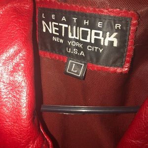 Leather red  size large-network nyc coat